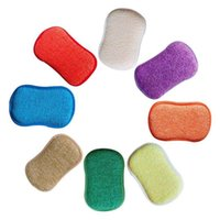 Cleaning Cloths Microfiber Kitchen Scouring Pads Double Sided Sponges Scourer Non Odor Dish Scrubber Brush, Great For Stick Pans Pots