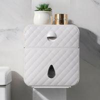 WBBOMING мода дизайн ванной ткани коробки организатор большой космический водонепроницаемый держатель ткани свободный удар хорошо выглядящей ткани 210326
