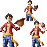 Jeden kawałek małpa D. Luffy anime Rysunek Trzy formy Luffy Star Eye Eye Jeść Mięso Wymienne PCV Figurka Zabawki Model Doll Prezent Q0722