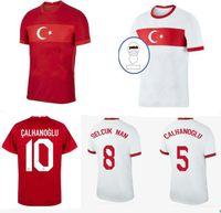 2021 Turquía Euro Maillot de Pie Soccer Jerseys 20 21 Yazici Caglar Söyüncü Demiral Ozan Kabak Calhanoglu Celik Camisetas Fútbol Nacional.
