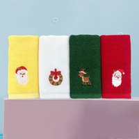 Super Absorbent Christmas 4Pcs Lot Cotton Kids Towel Soft Wiping Rags Bathroom Kitchen Tea Bar Dish Towels Home Table Hand Cleaning Cloth Lint Free Xmas Gift JY0768