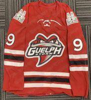 9 Nick Suzuki Guelph Storm Rare Hockey Jersey Jersey Jersey Jerseys Vintage Jerseys Personalizado Cualquier nombre o número