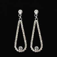 Water Drop Earrings For Women Cubic Zirconia Dangle Gold Silver Color Earring Bridal Wedding Temperament Jewelry Accessories