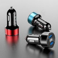 Hot New 2in1 Led Digital Display Dual USB Universal Car Charger For iPhone 12 11 Samsung Huawei Car Mobile Phone Fast charging adapter