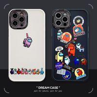 Entre os jogos dos EUA para o iPhone 11 / 12Pro Caso de telefone móvel 7P / XS Buraco Fino Anti-Drop Silicone Capa protetora