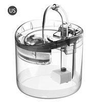 Cat Bowls Feeders 1,8l PET Wasserspender mit Wasserhahn Transparentfilter Ruhige Automatische Trinkbrunnen für Katzen Hunde Sensor Kit
