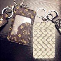 Anahtarlık Kart Çantası Anahtarlık Kolye Çanta Takı Metal Yüzük PU Kolye Bilezik Yüzük Bankcard Öğrenci Şeffaf Kart Kapağı Erişim Kontrolü G754LCB