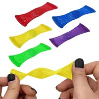 9 Color Finger Toys Party Favor Woven Net Tube With Marbles Decompression Toy Gifts For Children And Adults