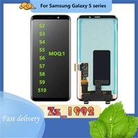 Cep Telefonu Dokunmatik Paneller Orijinal Samsung Galaxy S2 S3 S4 S5 S6 S7 S8 S9 S10 LCD Ekran Digitizer Meclisi Yedek MOQ 1 Parça