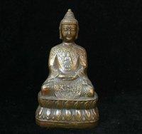 티베트 불교 사원 구리 좌석 웅대장 샤 캬 무니 아미 타바 부처님 동상