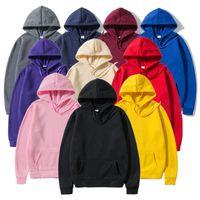 Men's Hoodies & Sweatshirts Fashion Quality Brand 2021 Spring Autumn Male Casual Solid Color Sweatshirt Tops