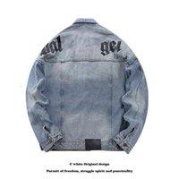 Дизайнер женские мужские джинсы куртки для турнирной одежды Пальто Джинс с длинным рукавом хип-хоп уличная одежда джинсовая ковбойские женщины мужчины голубые лоскутные карманы