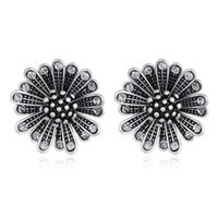 Saplama Hongye Vintage Takı Çiçek Tipi Boho Küpe Kristal Ile Küçük Kadınlar için Bijoux 2021