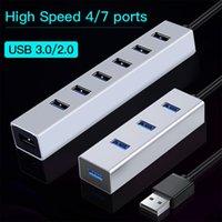 Ofccom Multi 3.0 Hub USB Splitter Yüksek Hızlı 4/7 Bağlantı Noktası Hepsi Bir Arada PC Windows MacBook Bilgisayar Aksesuarları için