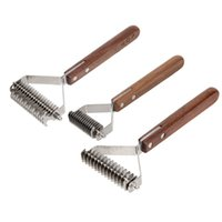 Cat Special Removal Brush, Puppy Fur Grooming Shedding Tool Combing, Pet Dog Hair Removal, Wooden Handle Brush