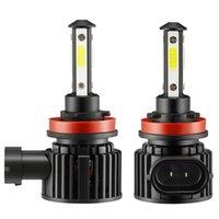 스타일 F8 LED 자동차 헤드 라이트 자동차 램프 업그레이드 섹션 유니버설 H11 헤드 라이트