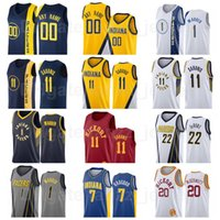 Hombre mujer joven pantalla impresa baloncesto doug mcdermott jersey 20 malcolm brogdon 7 domantas sabonis 11 caris levert 22 tj warren 1 equipo