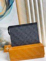 럭셔리 패션 가방 디자이너 고품질 핸드백 오래 된 체크 무늬 여성과 남자의 지갑 휴대 전화