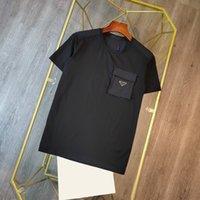 2020 Birleşik Devlet Avrupa Mens T Shirt Moda Rahat Tasarımcı Bahar Seyahat Yüksek Kalite Pamuk Yüksek Yoğunluklu Naylon Kumaş Rahat ve Nefes Üstleri