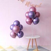2020 Yeni 5 inç Parlak Metal Inci Lateks Balonlar Kalın Krom Metalik Renkler Şişme Hava Topları Globos Doğum Günü / Parti Dekor 216 V2