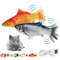 Cat Toys Electric Flopping Fish Moving Kicker Toy Realistic Floppy Wiggle Catnip Plush Interactive