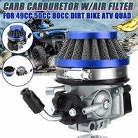 Motorcycle Fuel System 37cc 49cc 50cc 80cc 2 Stroke Carb Carburetor With Air Filter For Mini Moto Dirt Pocket Bike ATV Quad