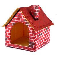 Lit de chien de compagnie pliable Dog maison maison petite maison animal de compagnie tente chat chenil portable portable trave coussin tapis tapis lavable chiot peluche bwe7158