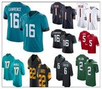 2021 Projet de jersey de football 16 Trevor Lawrence 17 Jaylen Waddle 1 Justin Champs 2 Zach Wilson 5 Trey Lance 22 Najee Harris 8 Kyle Pitts 6 Devona Smith