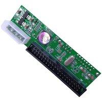Лучшие продажи Leshp SATA - PATA IDE Converter Adapter PlatPlay модуль поддержки 7 + 15 PIN 3.5 / 2.5 HDD DVD компьютерные кабели разъемы