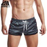 Aimpact Fitness Mens Mens Malha Shorts Rápido Seco Respirável Running Sports Trunks Jogger Ginásios Homens Shorts 210323