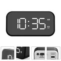 Zegary ścienne LED Digital Alarm Clock Snooze Dimmer Lustro Powierzchnia bez baterii