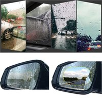 PCS Автомобиль Дождевая пленка Зеркало заднего вида Защитный Дождь Дождь против тумана Водонепроницаемая мембрана Наклейки аксессуары Sunshade