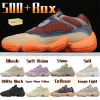 500 Scarpe da corsa Enflame Taupe Luce Uomini Donne Sports Sneakers Soft Vision Stone Blush Bone Bone Bianco Utility Black Mens Trainer con scatola