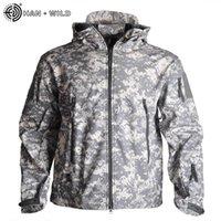 Комплекты одежды Хань Дикая осень мужская военная камуфляжная флисовая куртка армия тактические многокамные мужские ветровки
