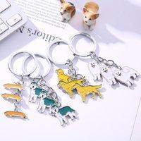 Keychains Tag Key Dog Keyring Dachshund Keychain Lovers Gift Fashion Jewelry Bag Woman Handbag Charms Lovely Dogs