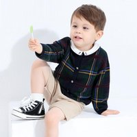 Older Children Sweater Cardigan Coat Boy Spring And Autumn Long Sleeve Round Neck Knitwear Fashion Pure Cotton Clothes Pullover