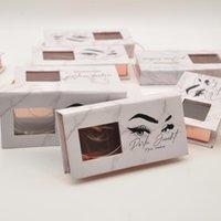 Wholesale Eyelash Packaging Box Fake 3d Mink Lashes Faux Cils Custom Logo Private Label Strip Magnetic Case Makeup Bulk Item False Eyelashes