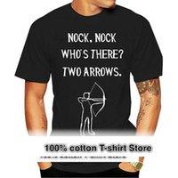 T-shirts pour hommes hommes manches courtes Tshirt Nock Nock. Qui il y a deux flèches. T-shirt femme T-shirt
