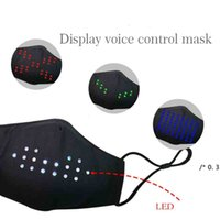 NUOVO LED Display Colorful Colorful Control Control Mask Musica vacanze Voice Voice Voice Maschera luminosa in cotone Cotone Vendita calda FWA4525