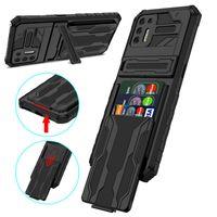Detachable Card Bag Cell Phone Cases For Moto G30 G Stylus5G Motorola G Power2021 G Stylus 2021 G9 Plus Shockproof Hard Shell Back Cover