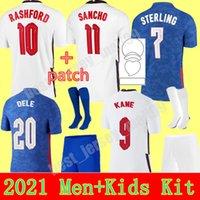 2021 Equipe Nacional Jé Jesega Jovem Criança Kane Esterlina Inglaterra Rashford Sancho Henderson Barkley 21 22 Camisas de Futebol Homens + Kids Kit Sets uniformes