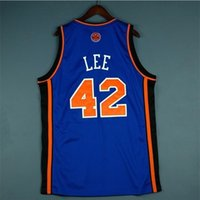 123Rare jersey de basquete homens juventude mulheres vintage azul 42 David Lee High School lincoln tamanho s-5xl personalizado todo nome ou número
