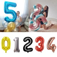 Party Decoration 32 40 Inch Gold Black Silver Number Balloon 1st Birthday Decorations Kids Adult Foil Balloons Baby Shower Supplies Globos
