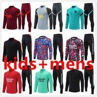 Ливерпуль; Челси; Арсенал; Тоттенхэм; Манчестер Юнайтед города; Футбольный трексуит Chandal Futbol Jogging Футбольные тренировочные наборы 2122 Мужчины + дети мужская куртка