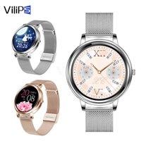 Designer luxo marca relógios ilips elegante mulher inteligente toque de tela cheia inteligente para girl frequência cardíaca personalizar discagem para android e ios