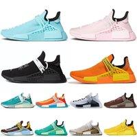 2021 adidas pharrell williams NMD insan ırkı koşu ayakkabıları büyük boy 47 erkek Aqua Pink Orange Nerd yarışları kadın atletik eğitmenler sneakers