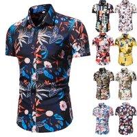 Camisas de playa 2021 Moda de verano Camisa Botón Down Hawaiian Masculina Coculina Coco Impreso Manga corta Para hombre Tallas de Talla Menores Casual