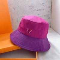 Denim Brand Bucket Cap Fashion Designers Caps Cappelli Casquette Mens Donne Luxurys Spalato Giunto Vecchio fiore stampato Catwalk Top Quality 2105077SX