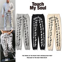 Kanye West Uomo Losed Letter Stampa Pantaloni Jeans Uomini Europeo e American Fashion Grande Dimensioni Capris Casual Casual Handsome Indossare coppia Pant