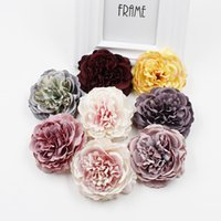 1pcs 8cm Peony Artificial Silk Flower Heads For Wedding Decoration Diy Wreath Gift Box Scrapbooking Craft Fake 2193 V2